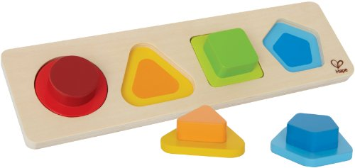 Image of the Hape First Shapes Toddler Wooden Learning Puzzle