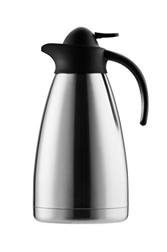 Isolierkanne SAFIR, Fassungsvermögen 1,5 Liter für 12 Tassen, silber/schwarz