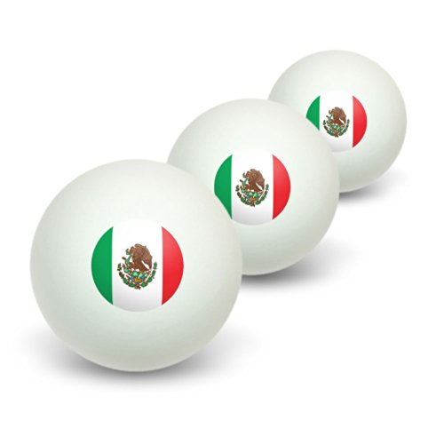 Best Price Graphics and More Mexico Mexican Flag Novelty Table Tennis Ping Pong Ball 3 Pack