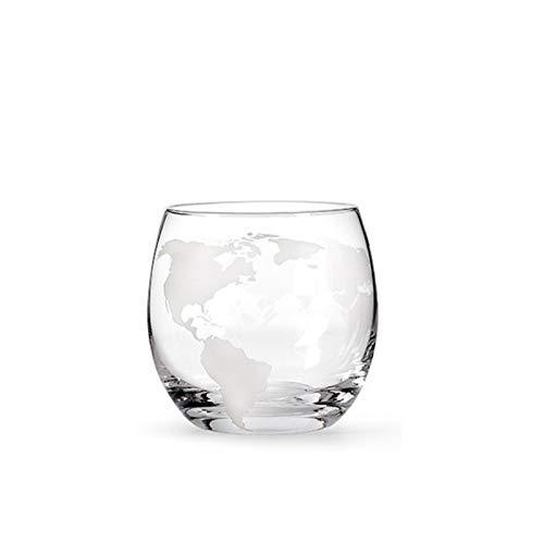 Globo Decanter Whisky Decanter Copa de vino Set Velero dentro de la jarra de whisky de cristal con la decantadora de licor de madera de madera fina para vodka Cup