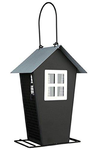 Trixie Vogel-Futterhaus mit Satteldach schwarz silber