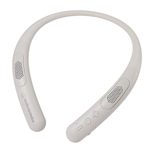 audio-technica ワイヤレスネックスピーカー Bluetooth5.0/本体約75g軽量設計/連続再生約13時間/microSDメモリーカード対応 AT-NSP300BT