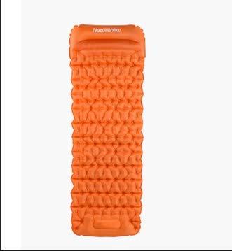 yssjs Tent Waterproof tent Push-type inflatable cushion outdoor tent sleeping pad single ultra-light portable egg nest trough mat camping camping mat tent (Size : Orange)