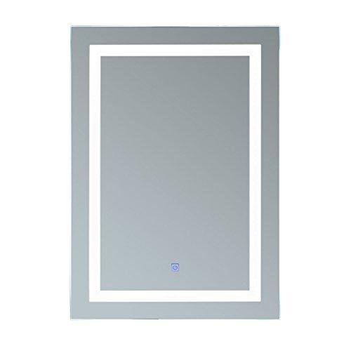 HOMCOM Lichtspiegel LED Spiegel Badspiegel Badezimmerspiegel Wandspiegel (50 x 70 x 4cm)