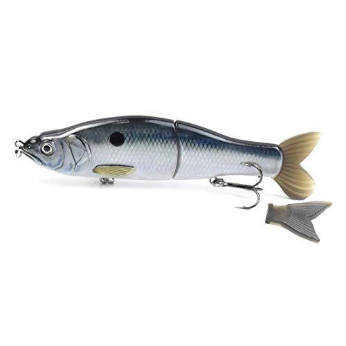 KKAAMYND 16.5cm 62g Hundimiento Glide Cait Cuerpo Duro con Colas Blandas Swimbait Slide Slide Lures 165S Wobblers Pesca Pesca de tampones (Color : CC19 05)