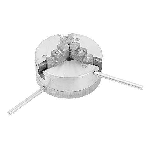 Junluck Mandril de Torno, Mandril de Torno Mini, Mandril de Torno de Madera para Accesorios de máquina Herramienta de Torno de Metal Mini