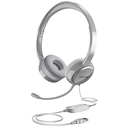 Review Of Mpow USB Headset (All-Platform Edition) with 3.5mm Jack, Stereo Computer Headset with Micr...
