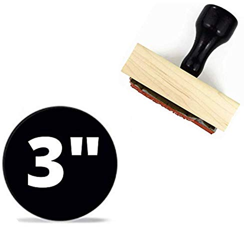 """1"""" 2"""" 3"""" 4"""" Large Logo Stamp - Custom Stamp - Personalized Wood Handle Business Stamp Self-Inking Black Red Blue Black Ink - Custom Round Text Business Stamp Large 1 2 or 3 Inch Stamper (3"""")"""