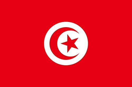 Gran Bandera de Tunez 150 x 90 cm Satén Durobol Flag