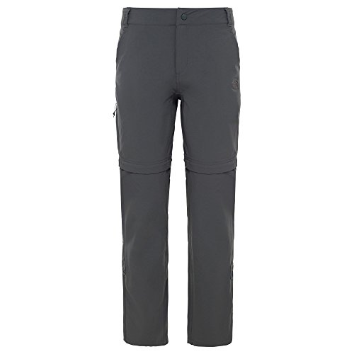 The North Face Damen Exploration Wandelbare Hose Hose,Grau (Asphalt Grey), 40 (Herstellergröße: 10 Regular )