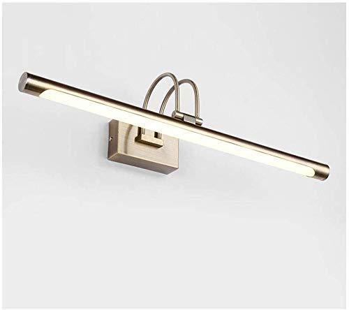Spiegelvoorlamp, waterdicht en beslaat niet, antieke badkamerspiegelkast retro kaptafel spiegelschijnwerper (kleur: wit licht, grootte: 52cm)