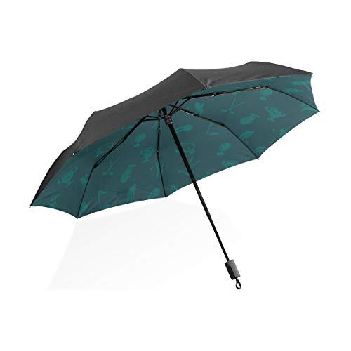 Großer umgekehrter Regenschirm-Stadion-kreativer Sport-Golfball-beweglicher kompakter faltender Regenschirm-Anti-UVschutz winddichter im Freienspielraum-Frauen-Frauen-Regenschirm