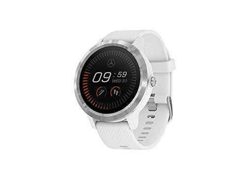 Garmin für Mercedes-Benz Smartwatch, Garmin Vivoactive 3 schwarz/silberfarben, weiß/silberfarben, Kunststoff/Edelstahl/Silikon, Smartwatch, Uhr (weiß)