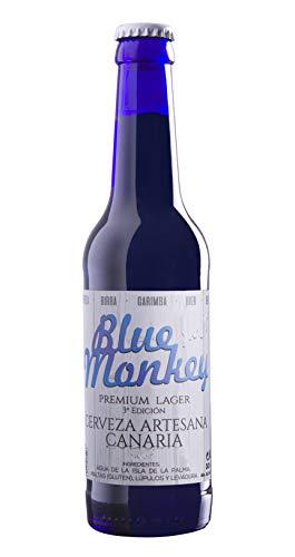 Lagerbier BLUE MONKEY 33 cl. Kanarische Produkte