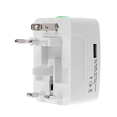 GHBOTTOM Adaptador de Corriente Enchufe de Pared Convertidor de Cargador USB Internacional UE Reino Unido EE. UU. Enchufe Viaje para teléfono