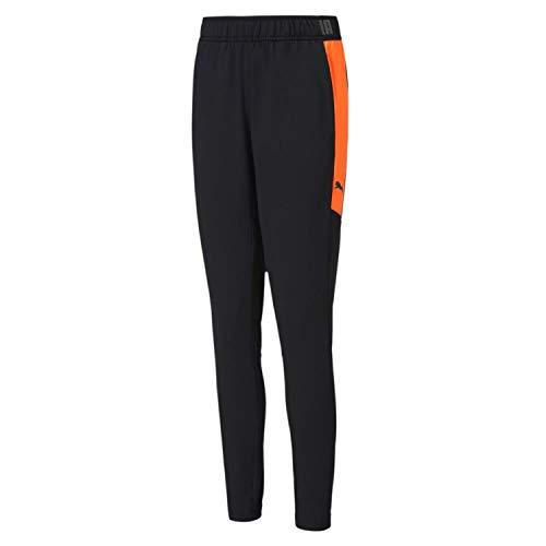 PUMA Uni Jogginghose ftblNXT Pant Jr, Puma Black-Shocking Orange, 176, 656841