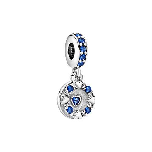 Diy Jewelry 100% 925 Sterling Silver Birthday Jewelry Diy Gift Trendy Blue Jewel Pendant Brick Charm Fit Original Pandora Bracelets