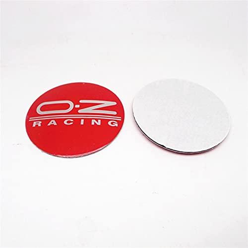 YTRGED 4 pegatinas para tapacubos de 55 mm OZ Racing para llantas de centro de llantas con logo insignia (color: D)