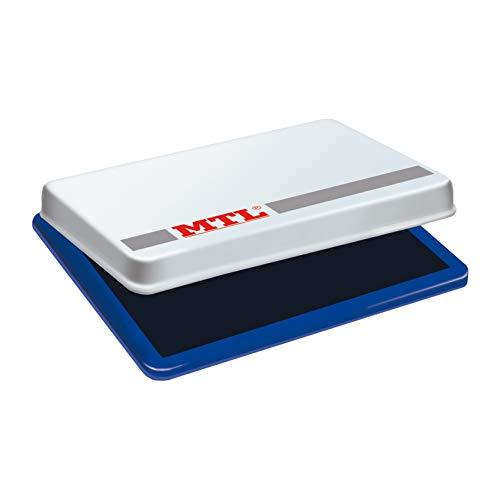 MTL- Tampón metálico de sellar, 109 x70 mm, color azul,