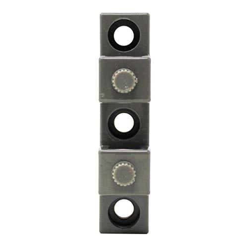 Scheffinger EM3-Zusatzhülse grau, zur Sicherung von Doppelflügelfenstern und -türen ohne Mittelsteg, Einbruchschutz DIN zertifiziert, hochwertiger massiver Stahl