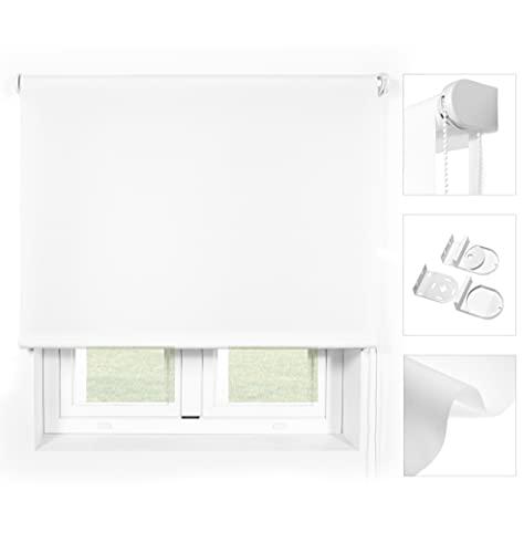 Blindecor Ara Premium - Estor Liso translúcido Blanco, 80x240 (Ancho x Largo). Tamaño de la Tela 77x240 cm (Ancho x Largo) Aprox.
