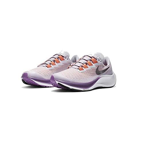 NIKE CJ2099 500 Air Zoom Pegasus 37 (GS) Zapatillas de Running para Mujer Violeta/Metálico, EU 40