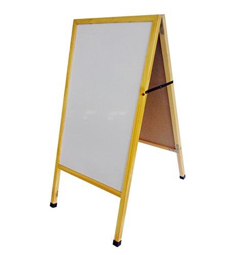 "FixtureDisplays 20 X 40"" A-Frame White Board Sidewalk Sign Menu Board Dry Erase Board Pavement Promotion Sign 10235White"
