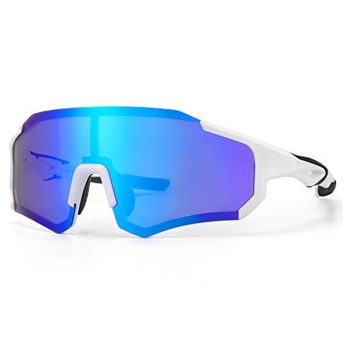 ROCKBROS Polarisierte Fahrradbrille UV400-Schutz Damen Herren Sonnenbrille Sportbrille für Radfahren, Laufen, Klettern, Angeln, Golf