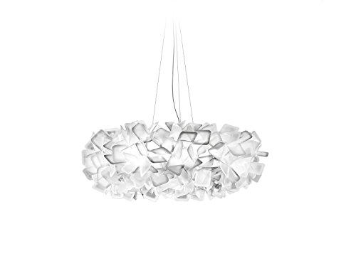 Slamp Kunststoff Hängeleuchte/Slamp-Leuchten Clizia in Weiß | Handgefertigt in Italien | Pendelleuchte Modern | Lampe E27