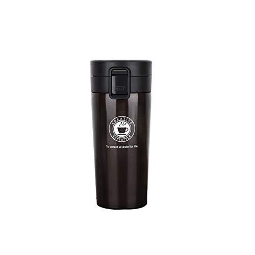 ANZRY Nouvelle Tasse de café en Acier Inoxydable Bouncing Voiture mug Double-Couche Haut de Gamme Tasse de Cadeau de Voiture, Noir, 380ml