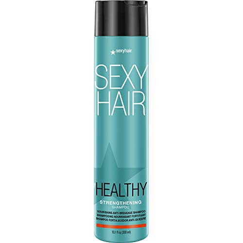 SexyHair Healthy Strengthening Anti-Breakage Shampoo, 10.1 Oz   Helps Provide Stength and Flexibility to Damaged Hair   SLS and SLES Sulfate Free