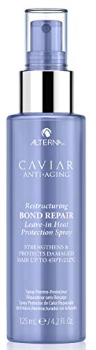 Alterna Caviar Anti-Aging Restructuring Bond Repair Leave-in Heat Protection Spray, 4.2 Fl Oz | Strengthens & Protects Damaged Hair