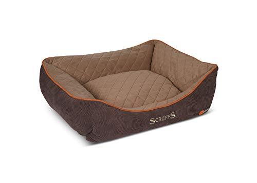 Scruffs 5060143677274 677274 Hunde Thermal Box Bett, L, braun