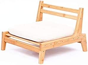 HUAWELL Bamboo Floor Chair for Living Room Japanese Tatami Chair with Cushion Accent Furniture