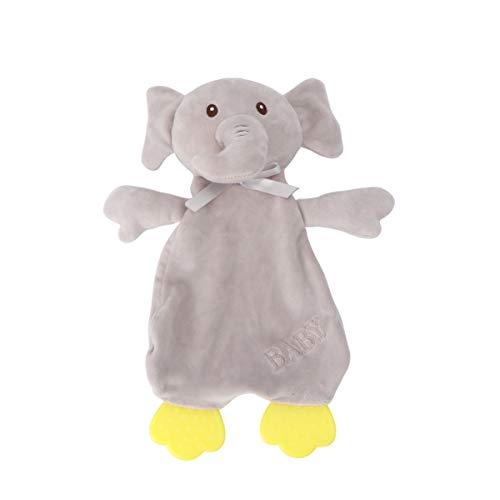 Toyvian Baby Schnuller Decke Stofftierdecke Erstes Baby Beißspielzeug für Sicherheitsdecke Beruhigendes Spielzeug (Kaninchen Hellgrau)