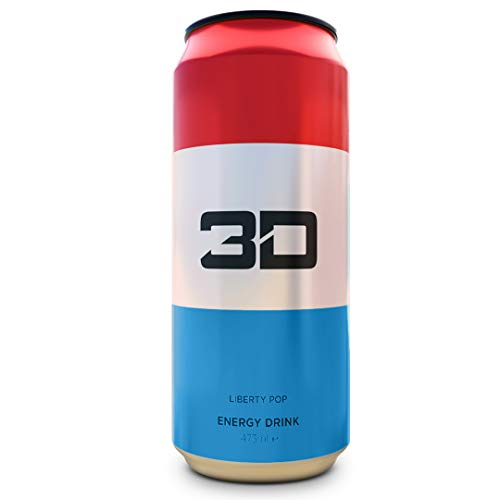 3D Energy Drink 24 Cans (Liberty Pop)