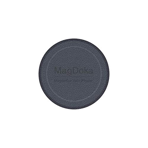 MagEasy Magnetic Mount Plate - MagDoka, Universal Magnet Adhesive Sticker for Car Phone Holder & Cradle, MagSafe Wireless Charging Support, Compatible with iPhone 6/6s/7/8/X/XR/XS/11/12/SE - Blue