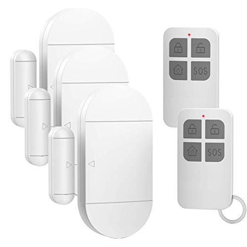 Door Window Alarm for Home Pool Kids Safety with 2 Remote Controls Door Entry Burglar Magnetic Sensor Security Alert Kit for Store Garage 130dB 4 Alarm Modes