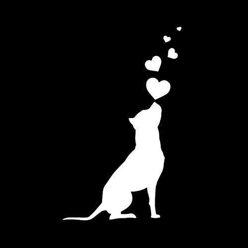 weichuang Tragbarer Treteimer abnehmbare Deckel Ist Hundeherzen Pet American Staffordshire Terrier Autoaufkleber Automobiles Exterior Zubehör Vinyl-Abziehbilder Hanging Abfalleimer Klapp