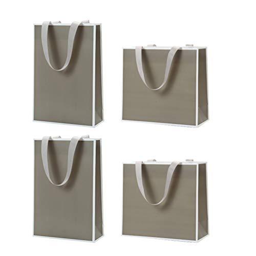 KESYOO ギフトバッグ 紙袋 手提げ袋 板紙 ボール紙 ラッピング袋 プレゼント おしゃれ 引き出物袋 結婚式 ギフト4個セット(Style 3)