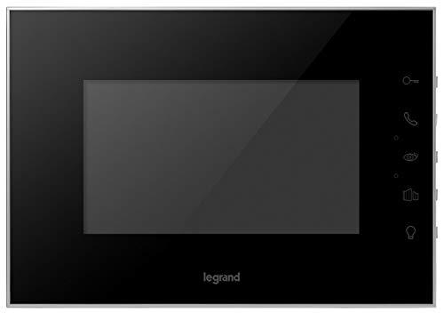 Monitor de vídeo adicional 369225 para videoportero Legrand. Pantalla de 7 pulgadas a color, acabado efecto espejo.