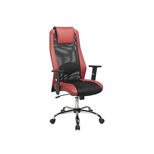 Certeo Bürostuhl SANDER | mit Armlehnen | Rot | Drehstuhl Schreibtischstuhl Computerstuhl höhenverstellbar