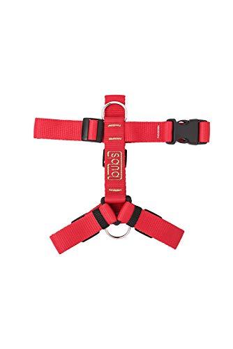 bub's Not Pull - arnés para Perro Mediano/pequeño Sistema Anti tirón (Comprobar tamaño: Cuello 34 a 57 cm Pecho 42 a 69 cm) Color Rojo