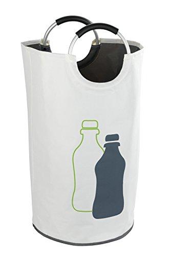 WENKO Flaschensammler Jumbo - Wäschesammler, Multifunktionstasche Fassungsvermögen: 69 l, Ø 38 x 72 cm, beige