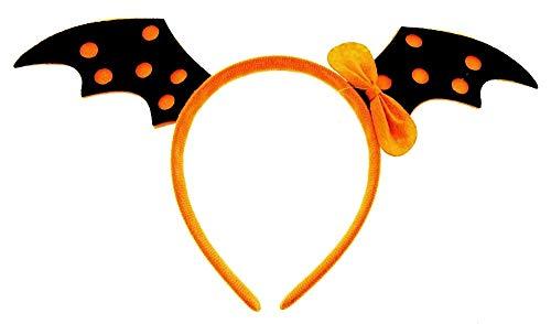 Cerchietto Ali Pipistrello batman - Accessori - Copricapo - Costume - Travestimento - Carnevale - Halloween - Cosplay - Arancione - Nero - Bambina - Donna - idea regalo originale natale compleanno
