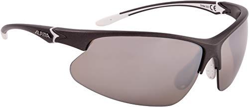 ALPINA DRIBS 3.0 Sportbrille, Unisex– Erwachsene, anthracite matt-white, one size