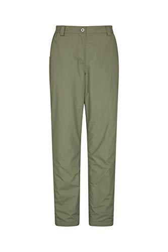 Mountain Warehouse Pantalon Femmes Trek II - Léger, séchage Rapide, Doublure Thermique - Marche, randonnée Kaki 38