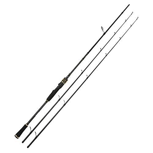SWNN Fishing Rod 2.4 M Carretera de Carbono Caña de Pescar Doble Ligeramente M/MH Ajustable Ultra Ligero Súper Duro Universal Pesca Lanzar Mango Recto Caña de Pescar Caña de Pescar Caña de Pescar