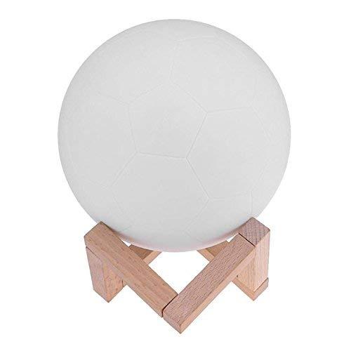 BRIGHTZ LED-Nachtlicht Wiederaufladbare 3D-Druck Fußball-Lampe LED-Nachtlicht Bunte Schlafzimmer-Dekoration-Nachtlichter Kindertagesgeschenk Moon Lamp 8cm 1Watts