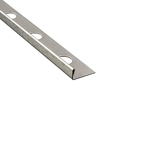L-Profil Edelstahlschiene Fliesenprofil Fliesenschiene Edelstahl V2A L250cm 8mm gebürstet